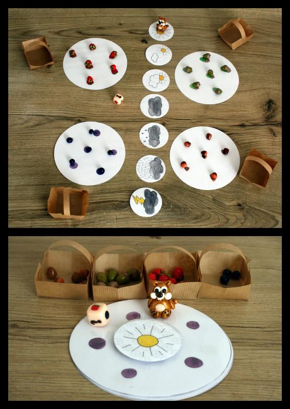 Le jeu de l 39 cureuil jeux et bricolages pour enfants id es et explications mes cr ations fimo - Fabriquer jeu de societe ...