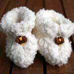 Petits chaussons en laine pour bébé (tuto)