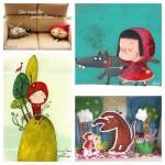 Les jolies idées des autres : Le petit chaperon rouge… coussin, dessins…