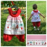 Collection P'tite Poulette : Sarouel et tunique « petit chaperon rouge »