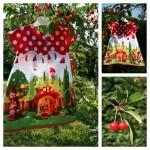 Collection P'tite Poulette : robe «gnomeville»