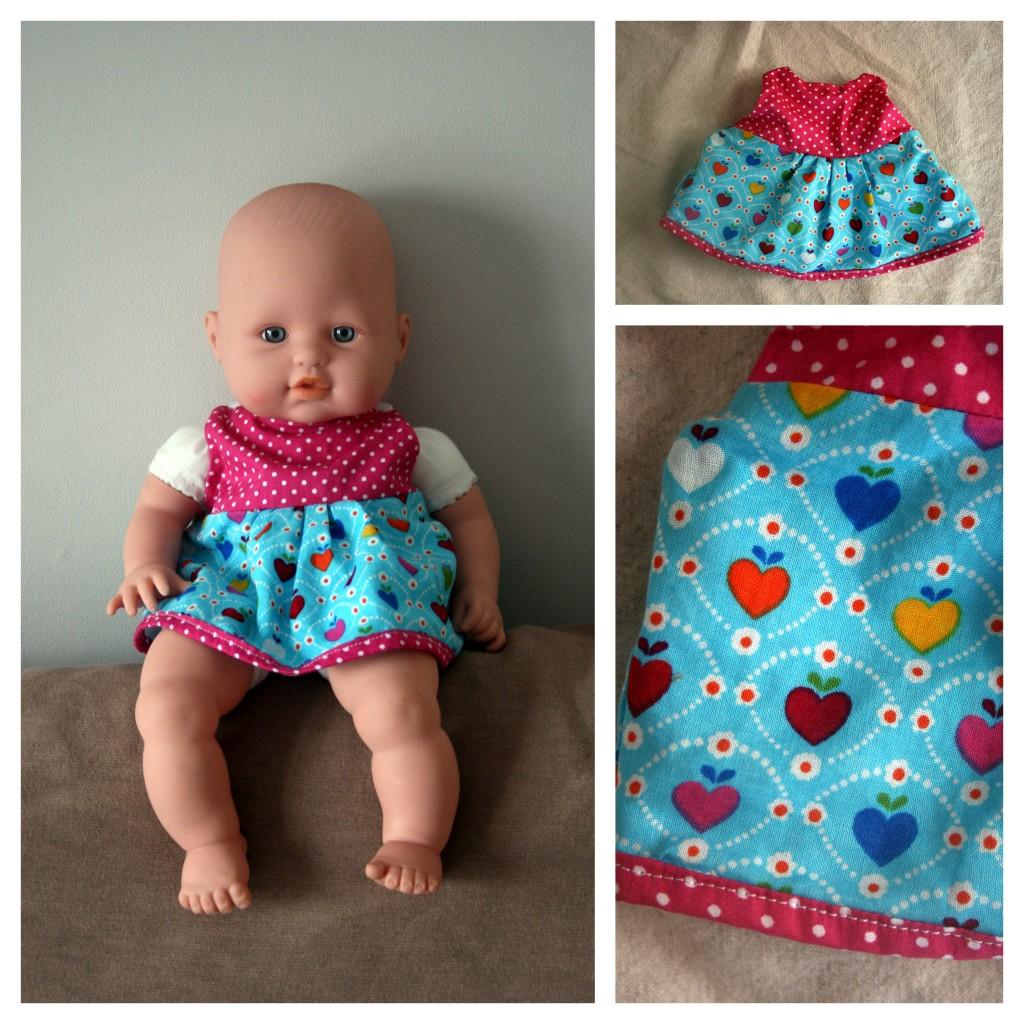robe froncée poupée