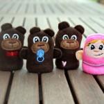 Marionnettes à doigts : Boucle d'or et les 3 ours.