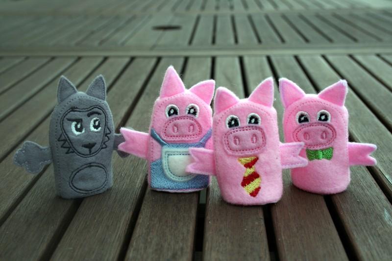 marionnette 3 petits cochons