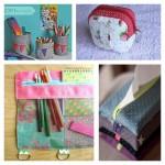 Les idées et les tutos pour la rentrée #3 : la trousse de classeur, la pochette à mouchoirs, le cache pot à crayons et la petite trousse