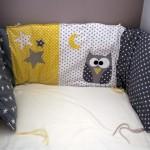 Des étoiles et des pois pour le dodo #1 : le tour de lit