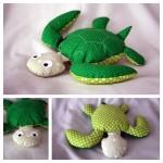 Fabrication d'un tapis à histoire : Petit poisson blanc (la tortue)