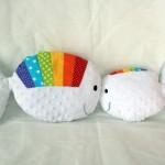 Fabrication d'un tapis à histoire : Petit poisson blanc et sa maman !