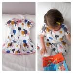 Collection P'tite Poulette : Une robe à petites manches pour l'été