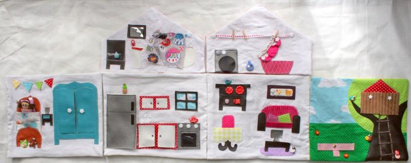 maison poupée tissu