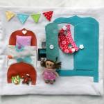 Ma maison de poupée en tissu : la chambre