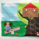Ma maison de poupée en tissu : le jardin !