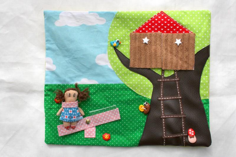 jardin maison poupée tissu
