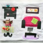 Ma maison de poupée en tissu : le salon