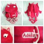 Un sac à dos chat liberty pour Adélia