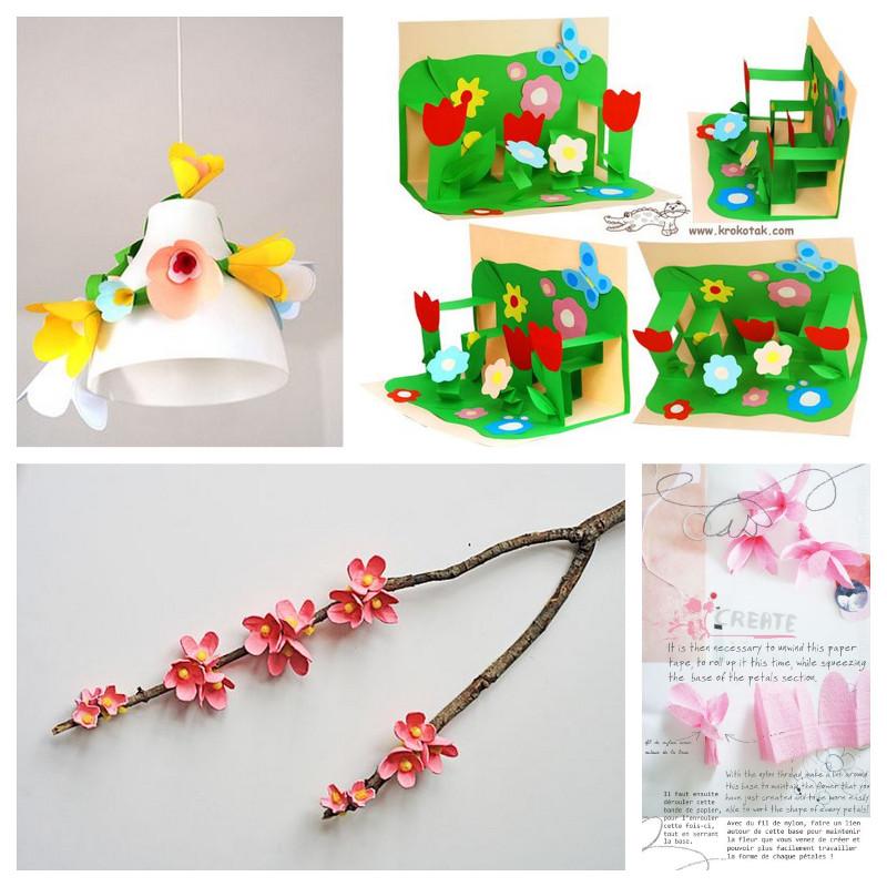 bricolage fleur papier
