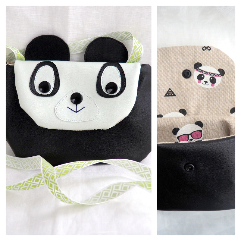 un petit sac renard ou panda diy tuto et patron couture pour enfant tutos diy isastuce. Black Bedroom Furniture Sets. Home Design Ideas
