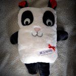Doudou coussin panda pour Manon
