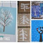 Les jolies idées des autres : les arbres d'hiver #1