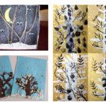 Les jolies idées des autres : les arbres d'hiver #2