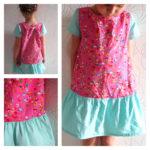 Collection P'tite Poulette : une robe flower hexagon Ottobre 3/2013