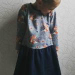 Collection P'tite Poulette : une robe « Funny faces » ottobre 1/2014
