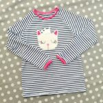 Collection P'tite Poulette : tee-shirt Bla-bla chat