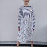Collection P'tite Poulette : robe de rentrée denim dots